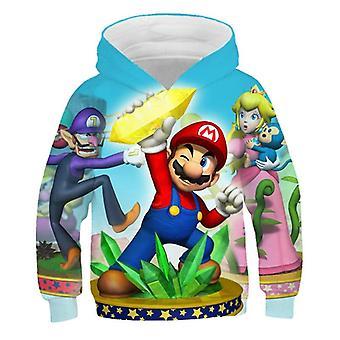 3d Print, Super Mario Cartoon Hooded Sweatshirt voor Set-10
