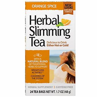 شاي التخسيس العشبي للقرن الحادي والعشرين، أورانج سبايس 24 كيس