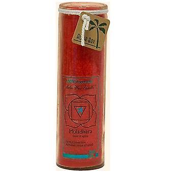 Aloha Bay Candle Chakra Jar, Unscented Red,16 OZ