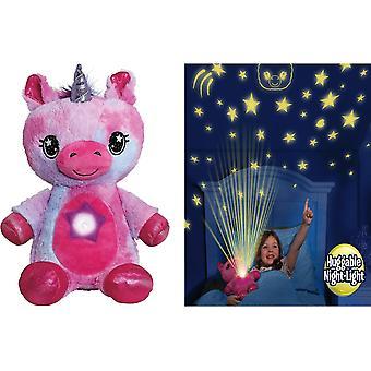 Ontel Star Belly Dream Lites, Luz de noche de peluche, Cachorro azul tierno (Unicornio Rosa)