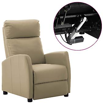 vidaXL الكهربائية كرسي قابل للتعديل كابتشينو براون فو الجلود