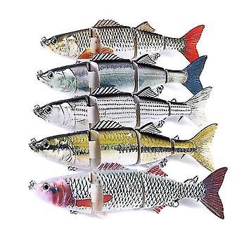 5pc 24cm 140g الثابت متعددة مشتركة إغراء الصيد الطعم الصيد إغراء أدوات الصيد