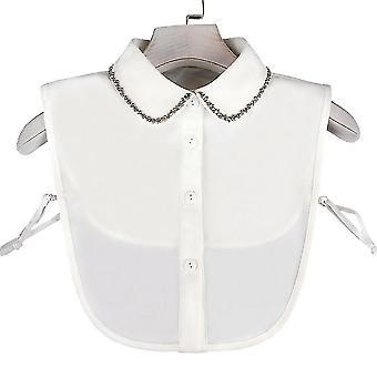 Anti Ryppy puoli paidat kirjonta väärä kaulus helmi niittaus irrotettava pusero