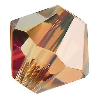 Preciosa Czech Crystal, Bicone Bead 4mm, 36 Pieces, Crystal Celsian Halfcoat