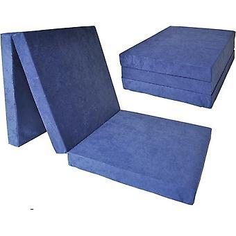 Kinder logeermatras - navy blauw - camping matras - reismatras - opvouwbaar matras - 120 x 60 x 6