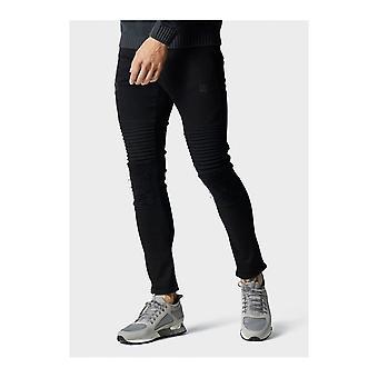 883 Police Brady Distressed Biker Black Skinny Fit Jeans