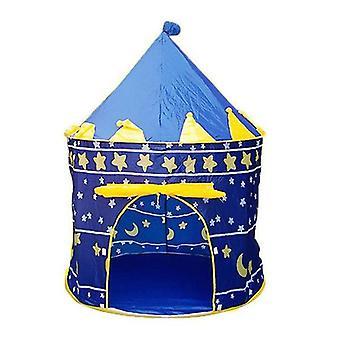 נייד מתקפל כחול לשחק אוהל ילדים טירת קובי לשחק בית כחול