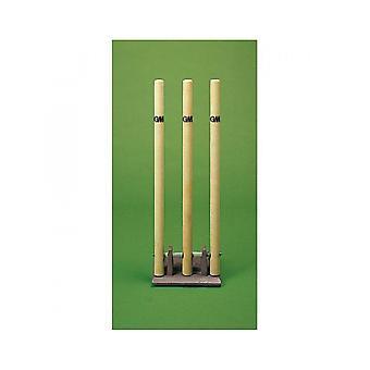 Gunn & Moore Cricket Stumps - Springbok Solid Cast Iron Base - Heavy Duty
