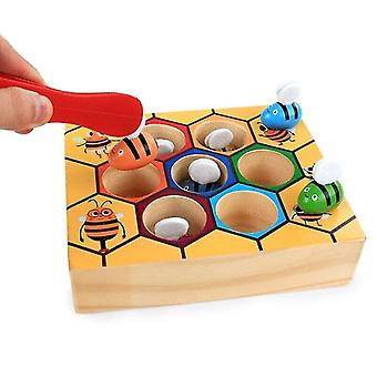 Pretend professions role playing wooden gag toys bee table game children christmas gifts behavior practice toy|gags practical jokes
