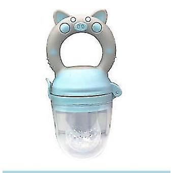 High quality scandinavian style non toxic toddler pacifier feeder and nibbler(Blue Pig L)