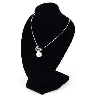 שחור בובה שרשרת תכשיטים תכשיטים תליון תצוגה לעמוד מחזיק הצג לקשט