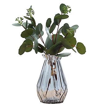 12 pakke potte falske planter kunstig plast eukalyptus planter