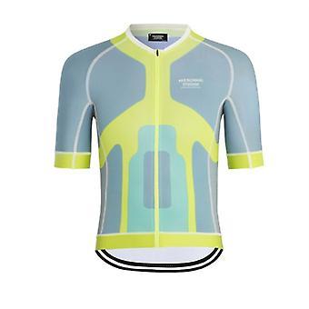 Pns Hommes Été Tops Qualité Manches Courtes Cyclisme Jersey Street Bicycle Vêtements Chemise Silicone Antidérapant