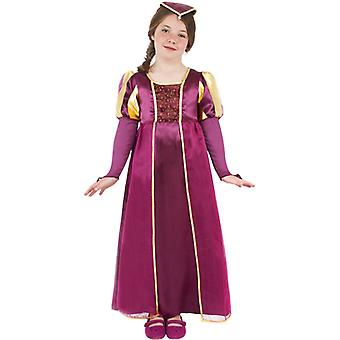 Königinkostüm Edeldame Tudor Königin Kinderkostüm