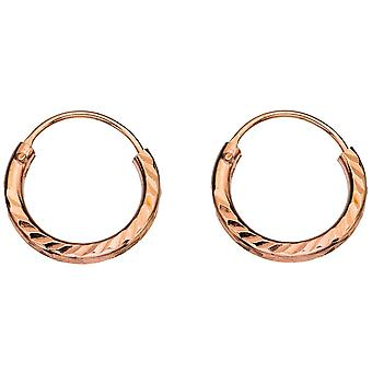 925 Silver Gold Plated Ring Earring
