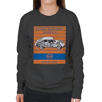 Haynes Workshop Manual 0084 VW 1600 Fastback Stripe Women's Sweatshirt