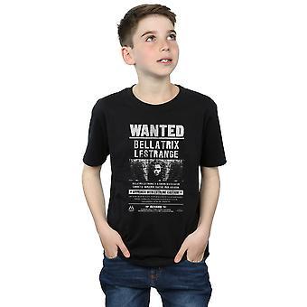 Harry Potter Boys Bellatrix Lestrange Wanted T-Shirt