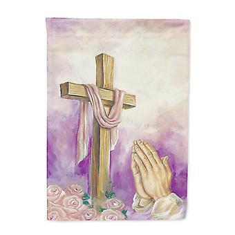 عيد الفصح الصليب مع الصلاة أيدي العلم قماش البيت الحجم