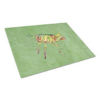 Carolines Treasures  8848LCB Grasshopper on Avacado Glass Cutting Board Large