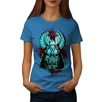 Fantasy Katana Warrior Women Royal BlueT-shirt | Wellcoda