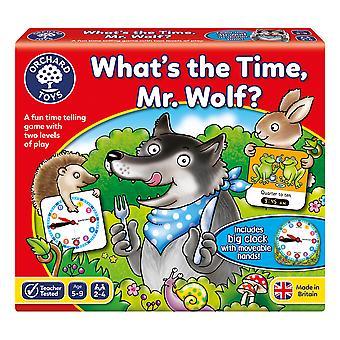 Orchard Toys was die Zeit ist Herr Wolf Spiel