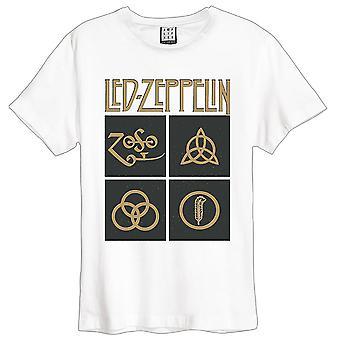 Förstärkt Led Zeppelin - guld symboler