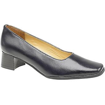 Amblers Ladies Walford Slip On in pelle pieno ufficio formale Shoe Navy