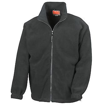 Resultado Mens Full Zip ativo Zip completo Anti-Pilling casacos de lã