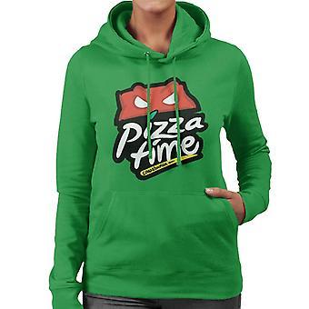 Teenage Mutant Ninja Turtles Pizza Hut Logo Women's Hooded Sweatshirt