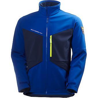 Helly Hansen Mens Aker Chest Pocket Softshell Fleece Coat Jacket