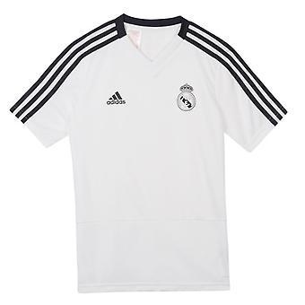 2018-2019 Real Madrid Adidas Training Shirt (White) - Kids