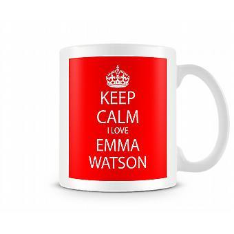Keep Calm I Love Emma Watson Printed Mug