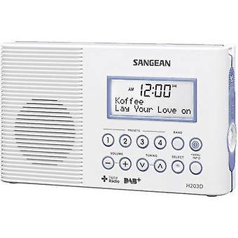Sangean H-203D DAB + badkamer radio DAB +, FM zaklamp, waterproof wit