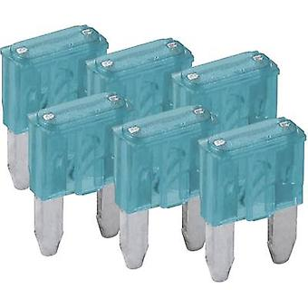 FixPoint SORTIMENT 1027-15A KFZM-Sicherung 6 tlg. 20390 Mini blade-type fuse 15 A Blue 6 pc(s)