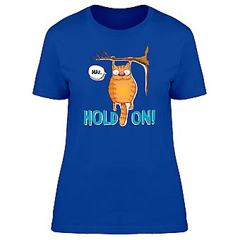 Ginger Cat Hold On! Mau Tee Women's -Image by Shutterstock