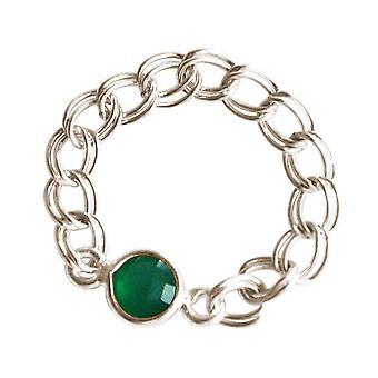 Anello da donna Gemshine 925 Argento Smeraldo Verde Mobile Supple