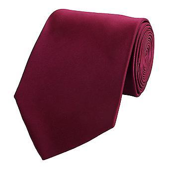 Slips tie bånd bindemiddel 8cm mørk rød rødvin rød uni Fabio Farini