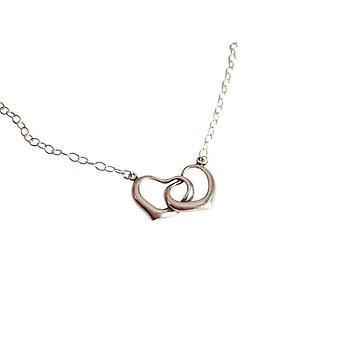 Collier silber Halskette silber mit Herzen 925 Silber MARGE Kette mit Anhänger