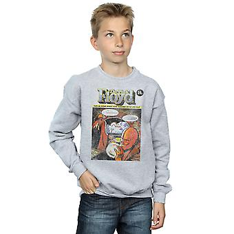 Pink Floyd Boys Distressed Comic Cover Sweatshirt