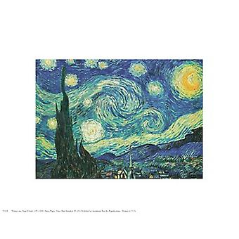 Starry Night Poster Print by Vincent van Gogh (10 x 8)