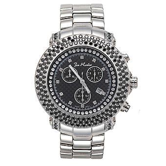 Joe Rodeo diamond men's watch - JUNIOR silver 6 ctw