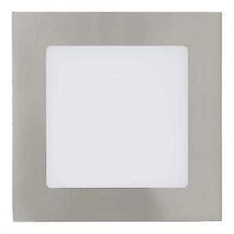 Eglo 5W LED Nickel Recessed Panel Wall Light, 120x120mm