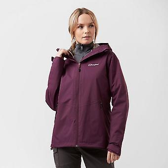 Nouveau Berghaus Women's Stormcloud Gemini Walking Hiking 3in1 Jacket Purple