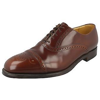 Zapatos de mens Loake Formal encaje Richelieu Oban