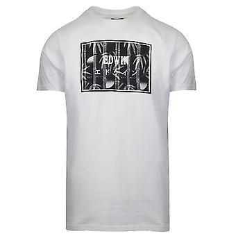 Edwin vit bambu Print T-shirt