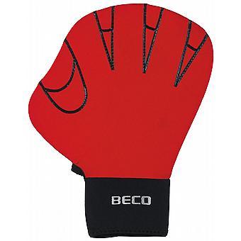 BECO Full Swimming Gloves (Medium) - Red