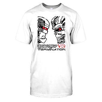 Robocop Vs Terminator - choque de la camisa de los niños T Cyborgs