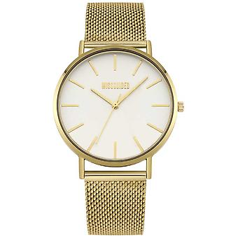 Missguided | Ladies Gold Steel Mesh | White Dial | MG016GM Watch
