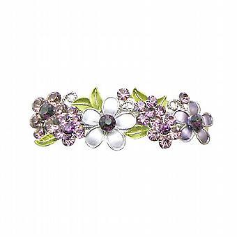 Amethyst Haarspange Blumen In lila Kristallen Hochzeit Haarspange gemalt
