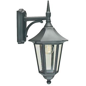 Valência ao ar livre para baixo parede lanterna - Elstead iluminação V2 preto